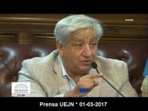 Exposición de Piumato en el Senado por #NoAlTraspaso 01-03-17